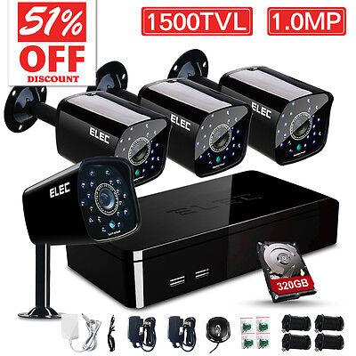 ELEC® 8CH CCTV DVR 1500TVL Outdoor 960H Night Vision Security Camera System New
