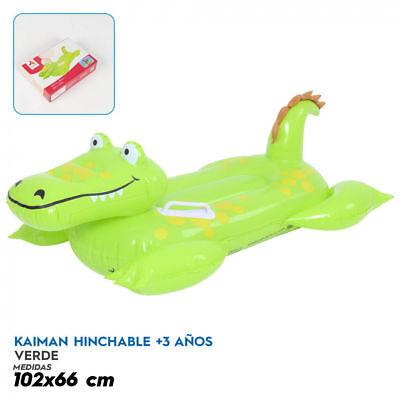 Krokodil Alligator Aufblasbar Kinder- Strand O Schwimmbad mit Griffen 3-9 Jahre