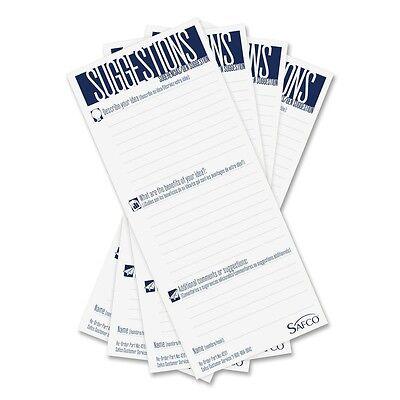 Safeco Suggestion Box Cards 3-12 X 8 White 25 Cardspack Pk - Saf4231