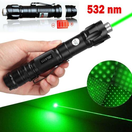 New Ultra Bright 500Miles Green Laser Pointer Pen Beam + Star Cap + Belt Clip