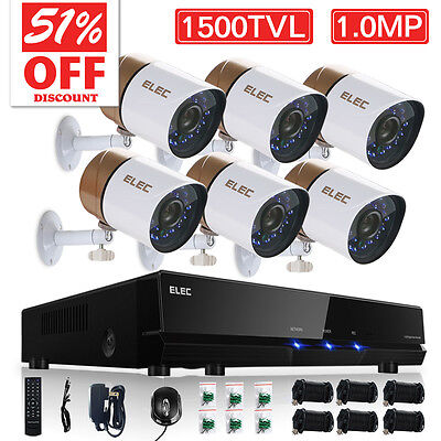 ELEC® 8CH 960H Security Camera System Outdoor 1500TVL HDMI CCTV DVR Night Vision