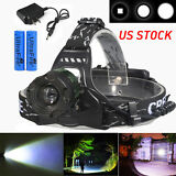20000Lumens CREE XML T6 Zoomable LED Headlamp Focus Head Light 18650+Charger USA