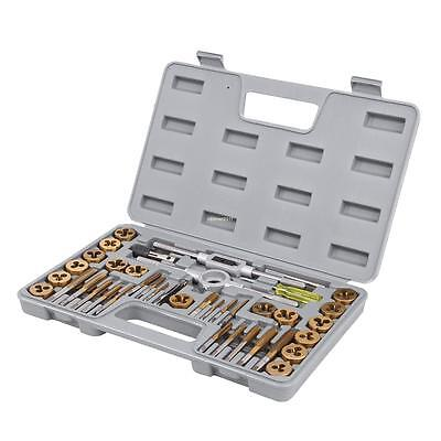 40pcs Heavy Duty Titanium Coated Metric Tap And Die Set Kit Fine Standard