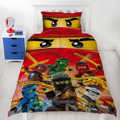 LEGO NINJAGO COLLECTIVE SINGLE DUVET COVER AND PILLOWCASE SET CHILDRENS