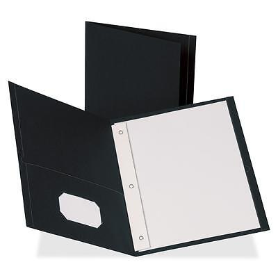 Business Source 2-pocket Folders 100 Sh Cap Ltr 9-12x11 25bx Bk 78532