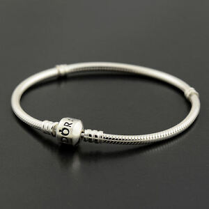 Authentic-Genuine-Pandora-Silver-Clasp-Bracelet-19cm-590702HV-19