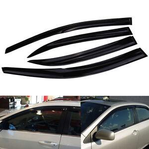 Front Rear Window Visor Guard Vent For Toyota Corolla 2009-2013 2010 2011 2012