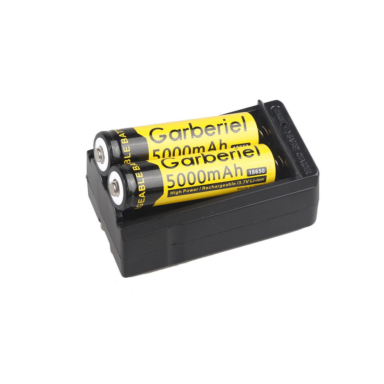 18650 Battery 5000mAh Li-ion 3.7V Rechargeable Batteries for LED Flashlight USA
