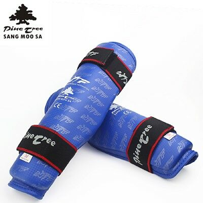 Kampfsport Schienenbeinschoner MMA Rushguard Muay Thai Kickboxen NEW Blue Gr. L