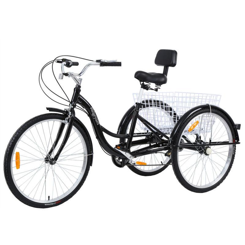 """Ridgeyard 26"""" 7-Speed Adult Tricycle Trike Bicycle Cruise Al"""