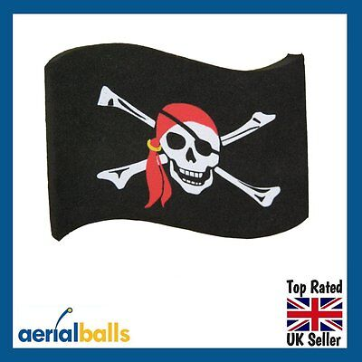 REDUCED... Jolly Roger Pirate Flag Car Aerial Ball Antenna Topper