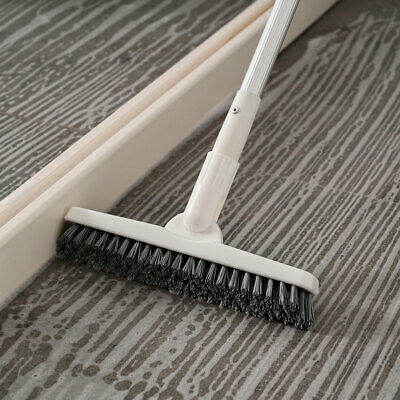 Long Handle 51 Removable Floor Stiff Bristles Scrub Brush Tile Deck Gap Clean