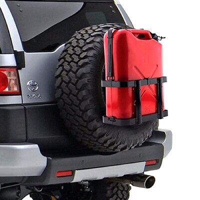 Jerry Gas Can Holder 5gal Carrier Bracket Gasoline Jug Fuel Mount Lockable Strap Jerry Can Carrier