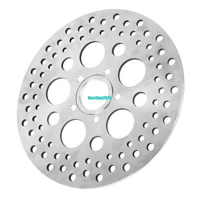 """For Harley Brake Disc Rotor Rear 11.5"""" Satin Finish Vented Stainless Steel Holes"""