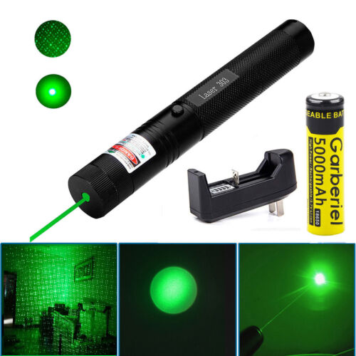 Shadow Hawk Green Tactical Laser Pointer Lazer Pen Visible Beam Light 18650 Set