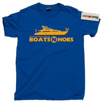 Step Brothers Prestige Worldwide Boats N and Hoes Hos Anchorman 2 Tee T (Step Brothers Boats N Hoes T Shirt)