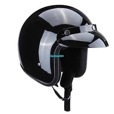 L Size Dot Adult Men Boy Motorcycle Scooter Off-road Safety 3/4 Open Face Helmet