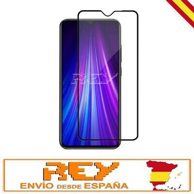 Cristal Templado Completo 3D 5D XIAOMI REDMI NOTE 8 PRO CURVO Negro...
