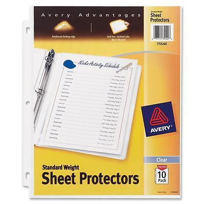 Avery Sheet Protectors3-holetop-load8-12x1110pkclear 75540
