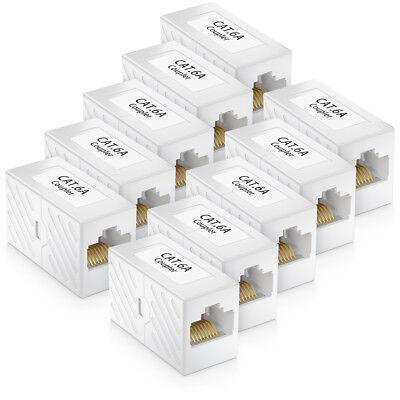 10x CAT 6a Netzwerk Kupplung Patchkabel Netzwerkkabel CAT RJ45 Verbinder DSL LAN