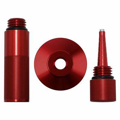 3x Mess Free Oil Change Funnel Run Gas Cap Magnetic Oil Dipstick For Hondared