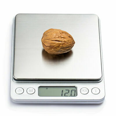 Digital Stainless Steel Kitchen Weighing Scale Backlit LCD 3KG/0.1g