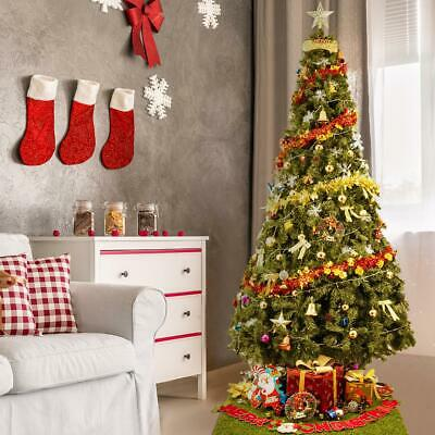 Artificial Christmas Tree Unlit 9 ft Green with Stand 2028 Tips Quick Set Up ()