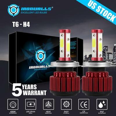 Used, 4 Sides H4 9003 LED Headlight Conversion Kit 2000W 300000LM Hi/Lo Beam 6000K for sale  USA