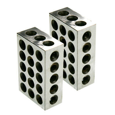 1 Pairs Ultra Precision 1-2-3 Blocks 23 Holes .0001