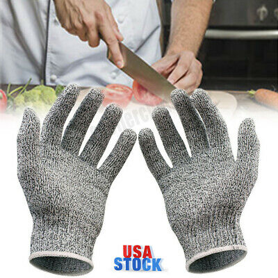 Safety Anti-cutting Butcher Gloves Level 5 Protection Metal Mesh Stab-resistant