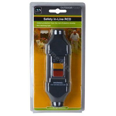 Masterplug In Line Circuit Breaker RCD Adaptor Garden Power Safety Trip Switch