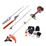 5 in 1 52cc Multi Tool Garden Trimmer Brush Cutter Hedge Chainsaw Extension Pole