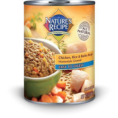 Nature's Recipe Canned Dog Food for Adult Dog, Easy to Digest Chicken Rice and B