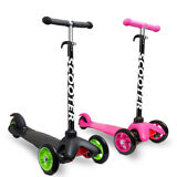 OxGord Kids Scooter - Deluxe 3 Wheel Glider with Kick n Go Lean 2 Turn