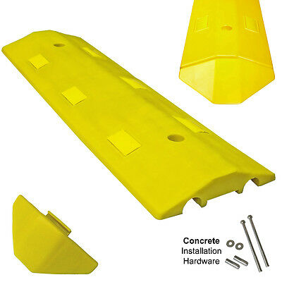 Concrete Light Weight Speed Bump Traffic Road Safety Control - 3 - Yellow