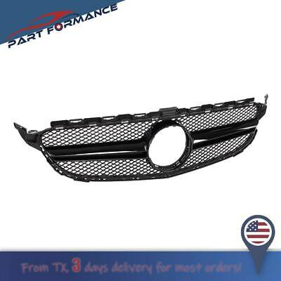FIT Mercedes Benz C Class W205 C200 C250 15-18 AMG Style Front Grill Mesh Grille