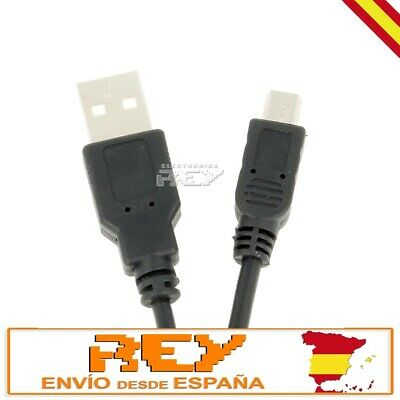 Cable USB Macho 3 metros a Mini USB Macho 2.0 para Carga...