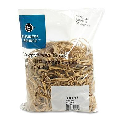 Business Source Rubber Bands Size 32 1 Lb.bg 3x18 Natural Crepe 15741