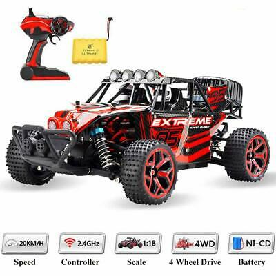 2.4Ghz Radio High Speed 1/18 Scale RC Trucks 4WD Off Road Racing Vehicle Cars