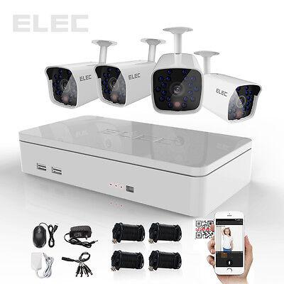 ELEC 4CH 1080P HDMI 960H DVR 1500TVL CCTV Video Home Security Camera System