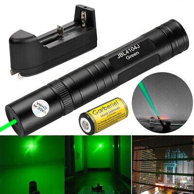 90miles Green Laser Pointer Pen Lazer 532nm Visible Beam Light Charger Battery