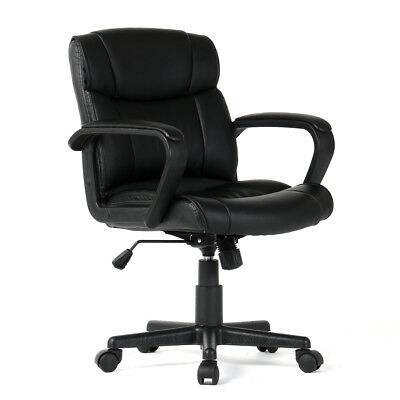 PU Leather Ergonomic Midback Executive Computer Best Desk Task Office Chair (Best Ergonomic Task Chair)