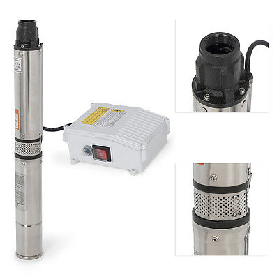 1HP Deep Well Pump 200FT 33GPM 110V Submersible Stainless Steel w/ Control Box