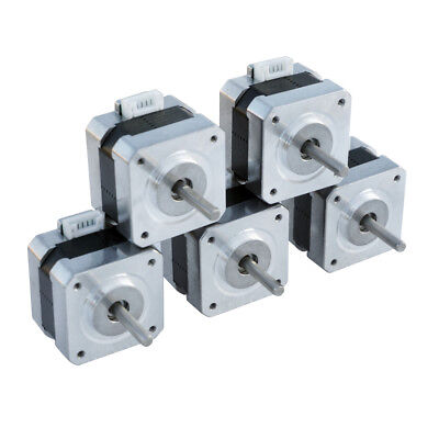5 Pieces Nema 17 Stepper Motors Drive 1.8 Step Angle For Linear Actuator Cnc