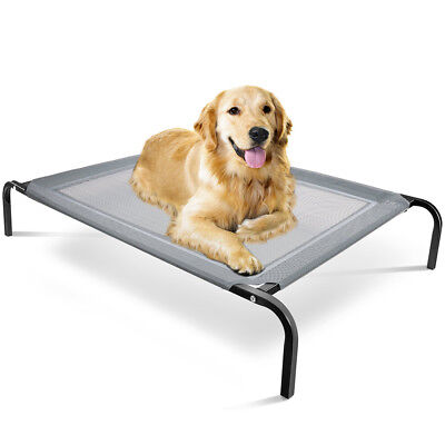 Elevated Dog Bed Lounger Sleep Pet Cat Raised Cot Hammock for Indoor Outdoor-MM - Elevated Pet Beds