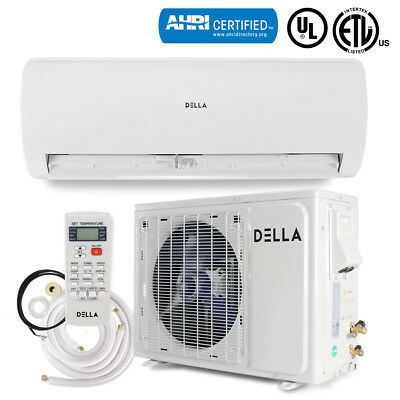 Ductless 12000 BTU 230V Mini Split Air Conditioning Inverter w/Heat Pump System - Heat Pump Air Conditioning System