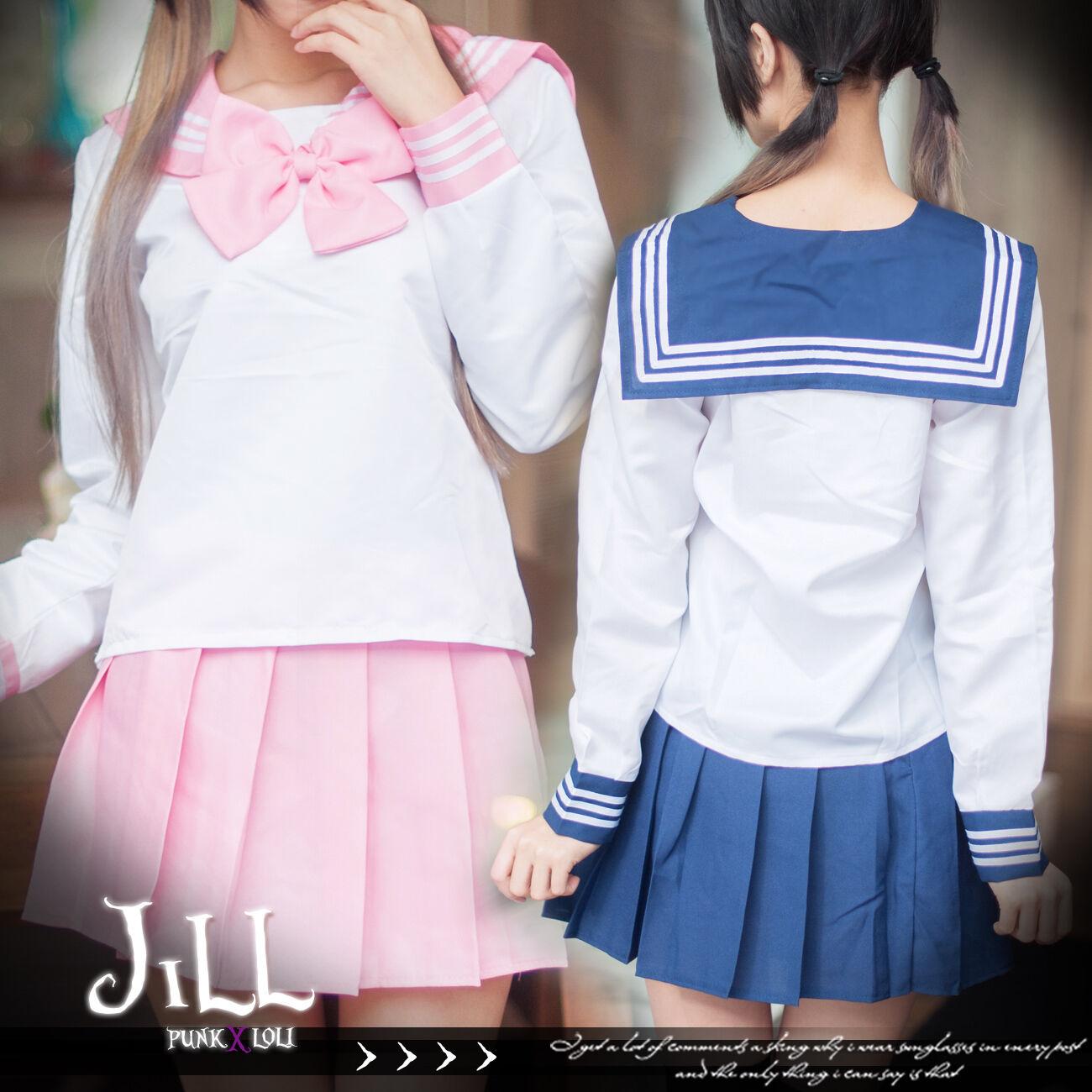 japan anime cosplay Shana of blazing eyes highschool sailor costume 2pc J3F3001