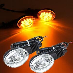 Pair Turn Signal Blinker Indicator Light Clear For 2008-2012 KAWASAKI Ninja 250R