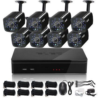 ELEC 1500TVL 8CH 960H HDMI DVR Indoor Home Video CCTV Security Camera System