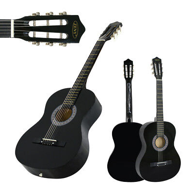 BLACK Beginners Acoustic Guitar With Guitar Case, Strap, Tuner and Pick